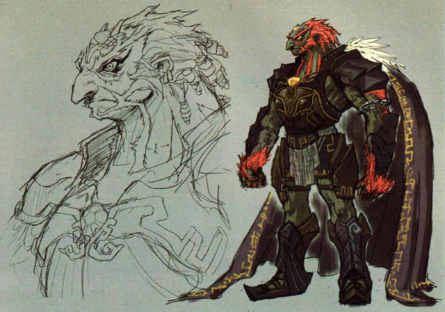 File:Twilight Princess Artwork Dark Lord Ganondorf (Early Concept Artwork - Hyrule Historia).png
