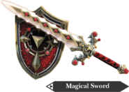 Hyrule Warriors Hylian Sword Magical Sword & Shield (Render)
