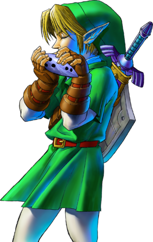 File:Link Playing Ocarina (Ocarina of Time).png