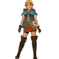 Hyrule Warriors Legends Linkle Standard Outfit (Great Sea - Aryll Recolor).png