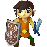 Hyrule Warriors Legends Toon Link Standard Outfit (Koholint - Tarin Recolor)