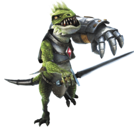 Hyrule Warriors Dragons Dinolfos (Render)