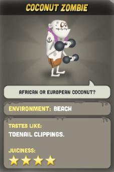Coconut Zombie Zombie Catchers