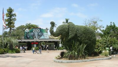 San Diego Zoo entrance elephant
