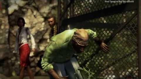Dead Island Riptide - Introducing the Wrestler Zombie (Mutated Wayne Cutscene)