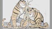 Tiger Dancers Art