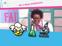 Mad scientist emoticon