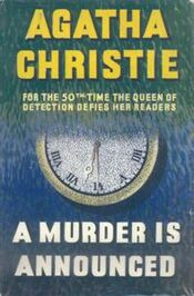 A Murder is Announced First Edition Cover 1950