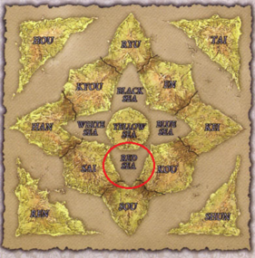 Twelve Kingdoms Map