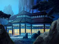 Gen-ei Palace at night