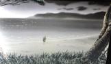 Youko looking at the ocean