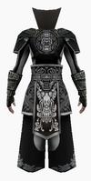 Fujin-black wolf hunter armor-male-back