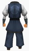 Guanyin-blue pearl robe-male-back