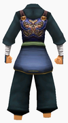 Guanyin-blue moon battle robe-male-back