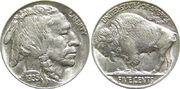 1935 US Indian Head Buffalo Nickel