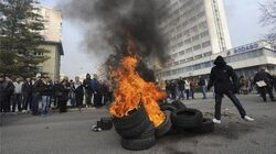 BOSNIA in ECONOMIC TURMOIL STATE FIRMS COLLAPSE After Turing Private MORE VIOLENT PROTESTS Expected