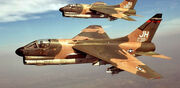 3d Tactical Fighter Squadron A-7Ds in Flight