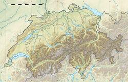 Switzerland relief location map
