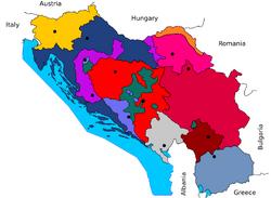 Yugoslavia durning war base map