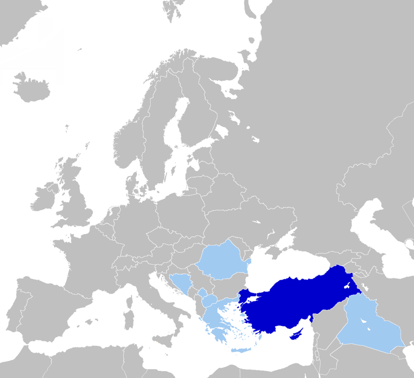 Map of Turkish Language