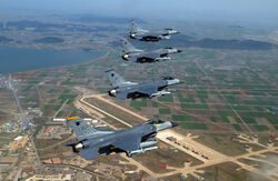 Kunsan air base with F-16s