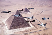 Jets over pyramids