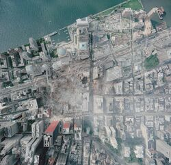Aerial photo of WTC groundzero