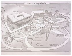Map of Shootings at Kent State University in 1970