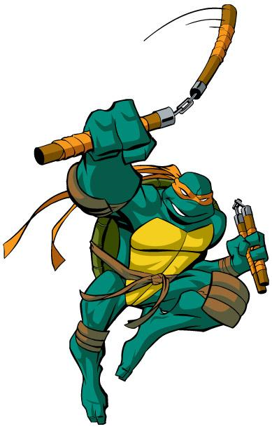 tmnt 2003 michelangelo coloring pages - photo#34