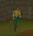 Bronze medhelm equipped