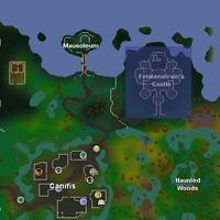 Fenkenstrain's Castle location
