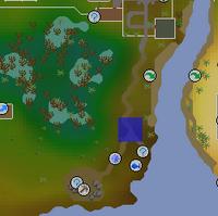 Hot cold clue - Lumbridge Swamp map