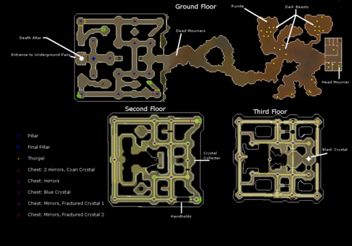 Mourner Tunnels & Temple of Light map