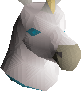 White unicorn mask chathead