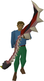 Abyssal bludgeon equipped