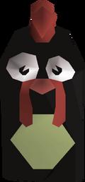 Evil chicken head detail