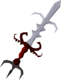 Zamorak godsword (or) detail