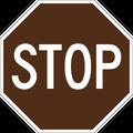 Brown stop sign.png