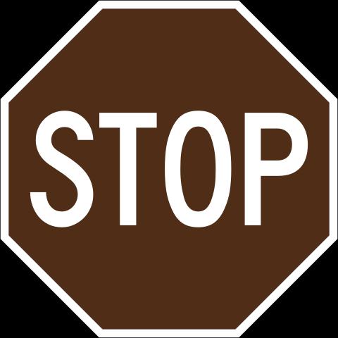 File:Brown stop sign.png