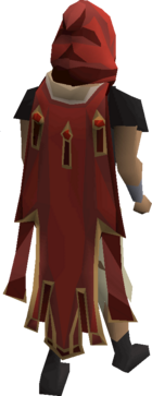 Max cape equipped