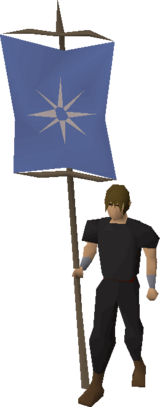 Banner (Asgarnia) equipped