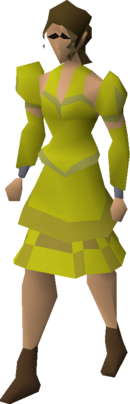 Gold elegant clothing (female) equipped