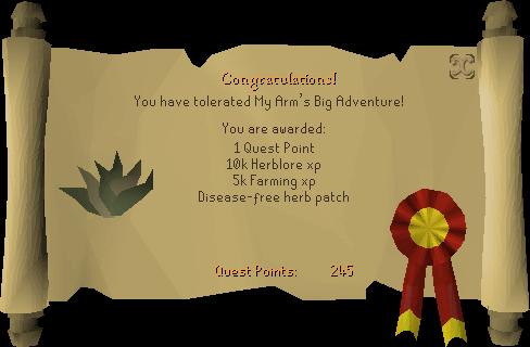 My Arm's Big Adventure reward scroll