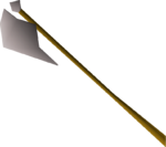 White halberd detail