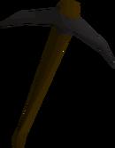 Black pickaxe detail