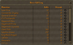 Boss Kill Log