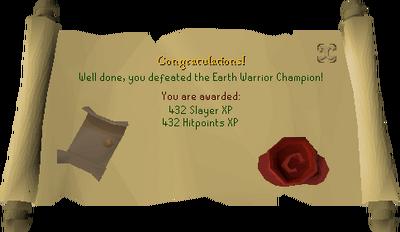 Earth Warrior Champion reward