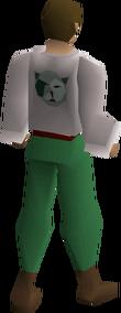 Bob's green shirt equipped