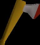 Steel axe detail