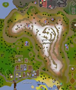 White Wolf Mountain map